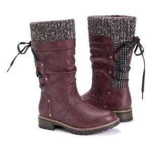 Burgundy Joni Muk Luks Boots